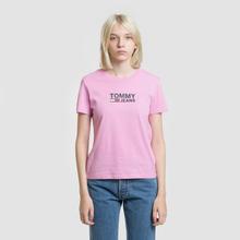 Женская футболка Tommy Jeans Corp Logo Lilac Chiffon фото- 1