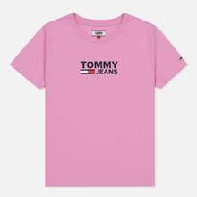 Женская футболка Tommy Jeans Corp Logo Lilac Chiffon фото- 0