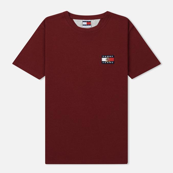 Женская футболка Tommy Jeans Crest Flag Cabernet