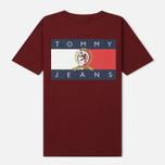 Женская футболка Tommy Jeans Crest Flag Cabernet фото- 1