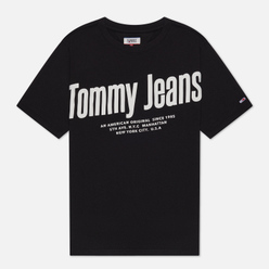 Женская футболка Tommy Jeans Diagonal Logo Black