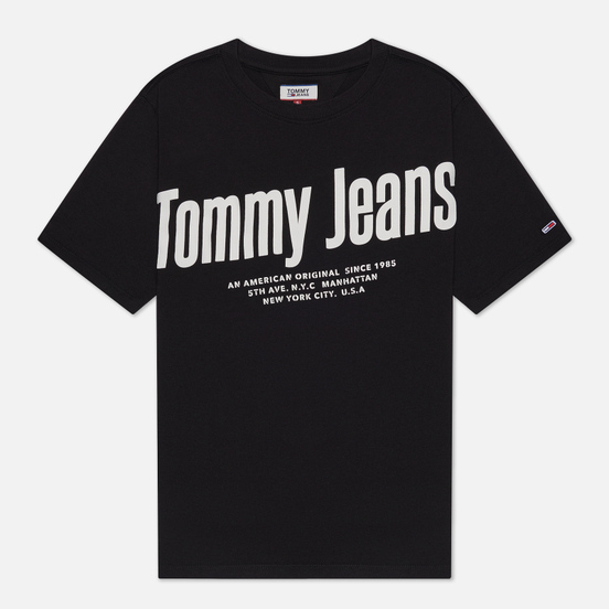 Женская футболка Tommy Jeans Diagonal Logo Black