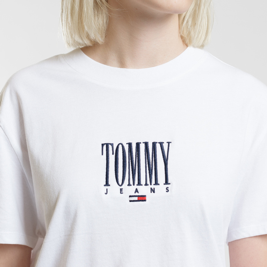 Женская футболка Tommy Jeans Embroidery Graphic Classic White