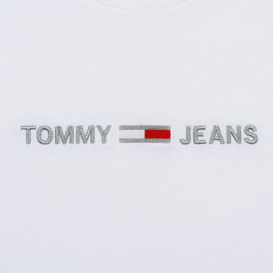 Женская футболка Tommy Jeans Linear Logo Detail Classic White
