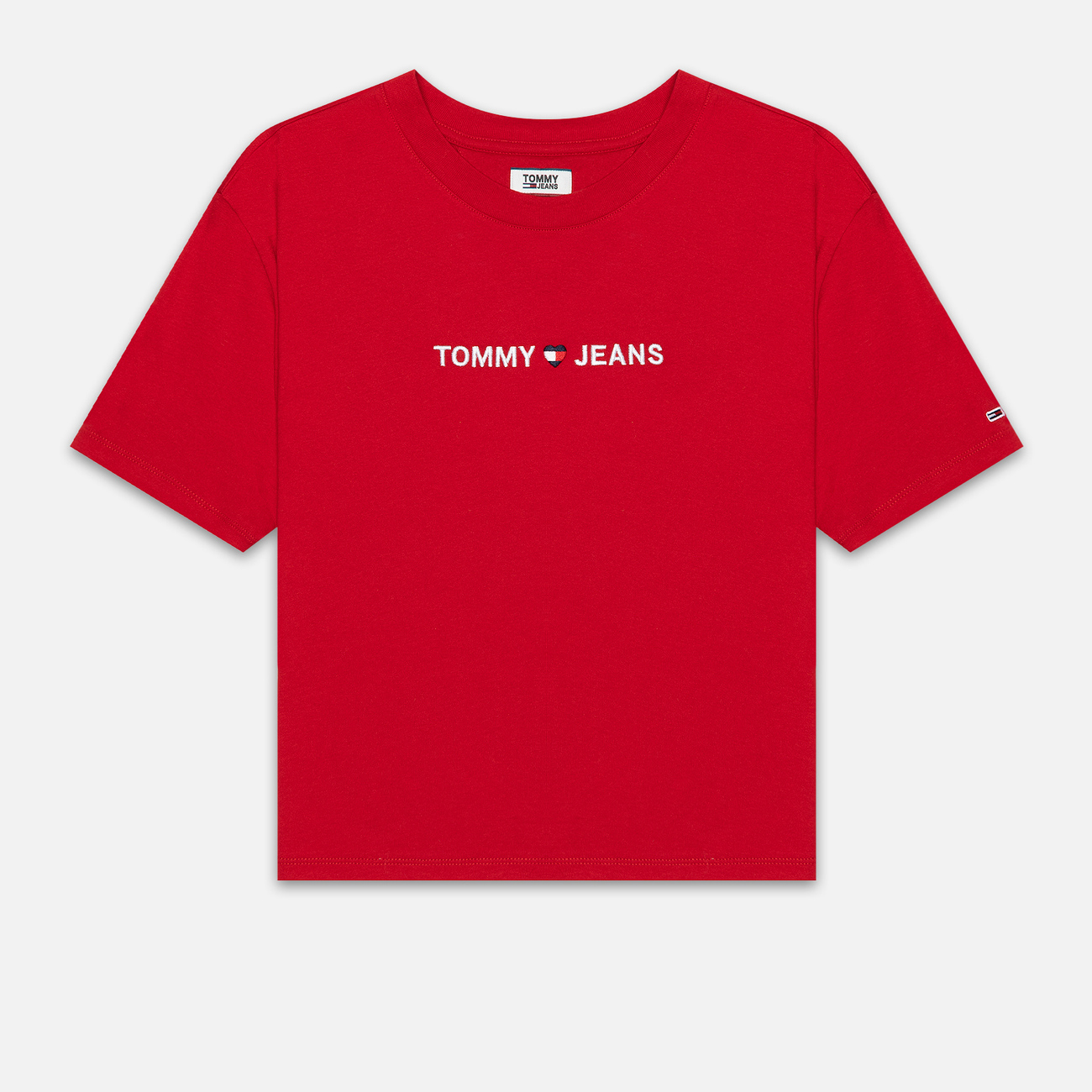 Женская футболка Tommy Jeans Linear Logo Detail Racing Red