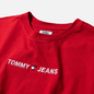 Женская футболка Tommy Jeans Linear Logo Detail Racing Red фото - 1
