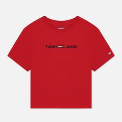 Женская футболка Tommy Jeans Modern Linear Logo Deep Crimson