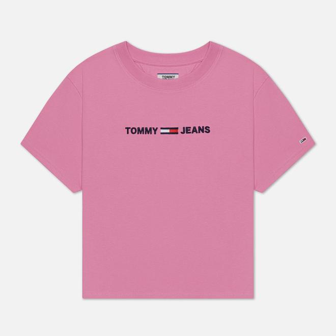 Женская футболка Tommy Jeans Modern Linear Logo Pink Daisy
