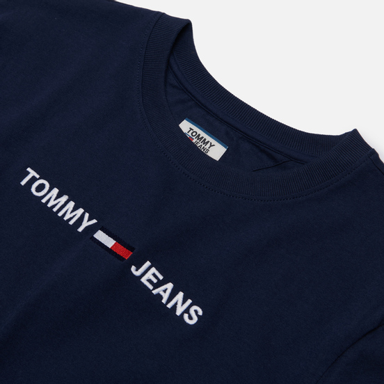 Женская футболка Tommy Jeans Modern Linear Logo Twilight Navy