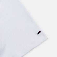 Женская футболка Tommy Jeans Small Logo Text 1985 Cropped Fit Classic White фото- 2