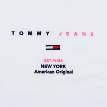 Женская футболка Tommy Jeans Small Logo Text 1985 Cropped Fit Classic White фото- 3