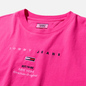 Женская футболка Tommy Jeans Small Logo Text 1985 Cropped Fit Pink Glo фото - 1