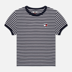 Женская футболка Tommy Jeans Stripe Heart Classic White/Black Iris