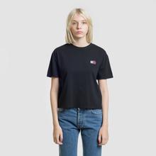 Женская футболка Tommy Jeans Tommy Badge Black фото- 1