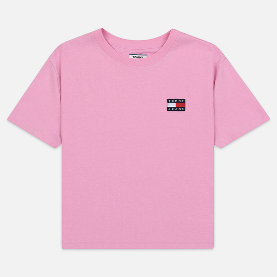 Женская футболка Tommy Jeans Tommy Badge Lilac Chiffon