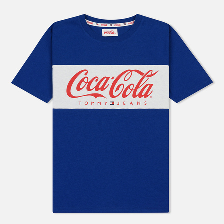 Женская футболка Tommy Jeans x Coca-Cola Logo Sodalite Blue