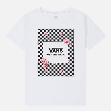 Женская футболка Vans Boxed Rose Checks White