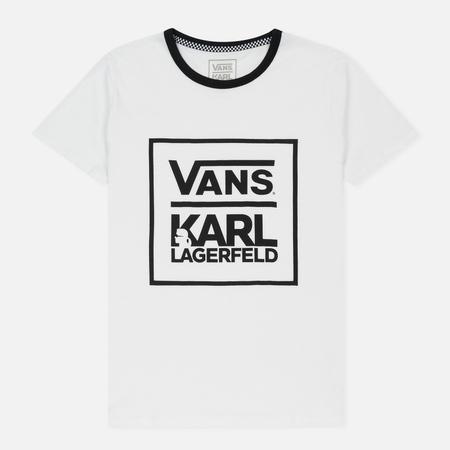 Женская футболка Vans x Karl Lagerfeld Ringer White