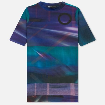 Женская футболка Y-3 All Over Print SS Purple