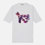 Женская футболка Y-3 Colour Logo White фото- 0