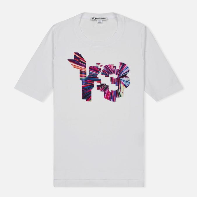 Женская футболка Y-3 Colour Logo White