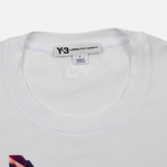 Женская футболка Y-3 Colour Logo White фото- 1