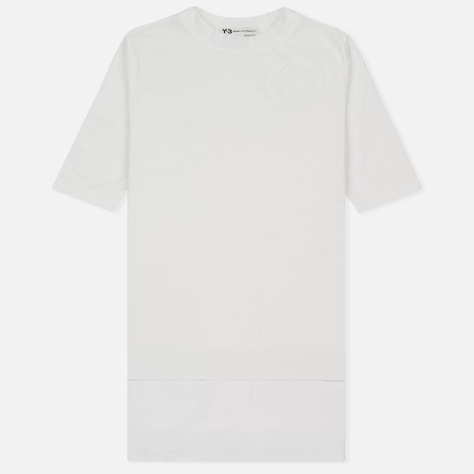 Женская футболка Y-3 Jersey Collar White