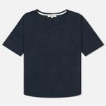 Женская футболка YMC Before Sunrise Linen Navy фото- 0