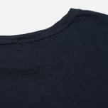 Женская футболка YMC Before Sunrise Linen Navy фото- 3
