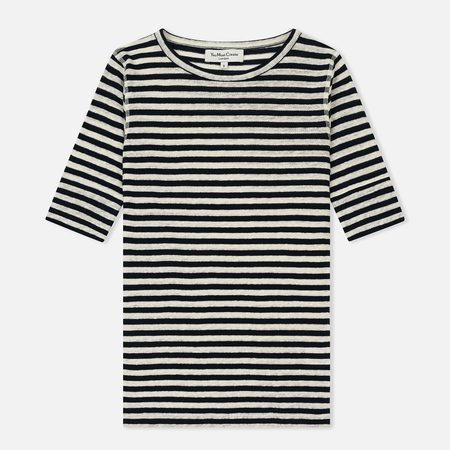 Женская футболка YMC Charlotte Stripe Linen Jersey Small Navy/Ecru