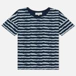 Женская футболка YMC Mountain Girl Stripe Indigo фото- 0