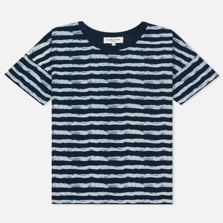 Женская футболка YMC Mountain Girl Stripe Indigo
