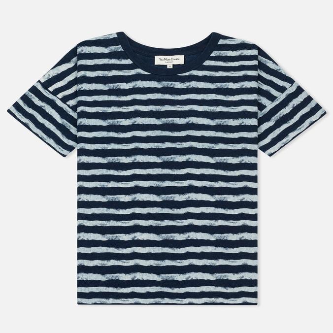 Женская футболка YMC Mountain Girl Stripe Indigo