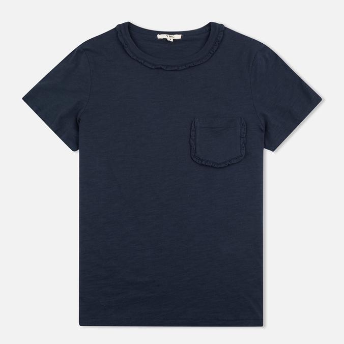 Женская футболка YMC Ruffle Navy