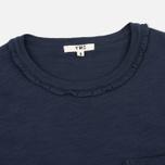 Женская футболка YMC Ruffle Navy фото- 1