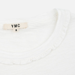 Женская футболка YMC Ruffle White фото- 3