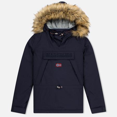 Женская куртка анорак Napapijri Skidoo Eco-Fur Blue Marine