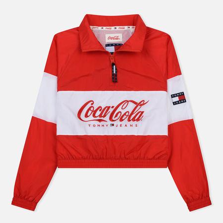 Женская куртка анорак Tommy Jeans x Coca-Cola Logo Red