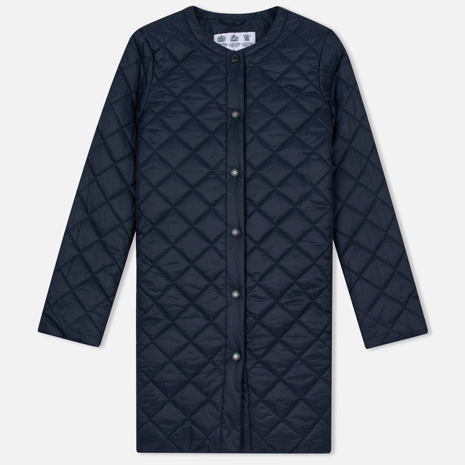 Женская куртка Barbour Heritage Collarless Border Quilted Navy