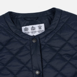 Женская куртка Barbour Heritage Collarless Border Quilted Navy фото- 1