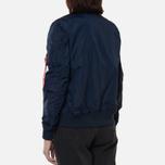 Женская куртка бомбер Alpha Industries MA-1 TT Replica Blue фото- 4