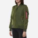 Женская куртка бомбер Alpha Industries MA-1 TT Sage Green фото- 3