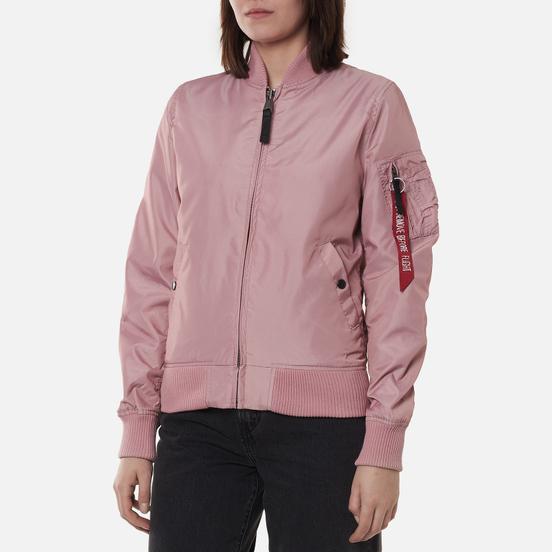 Женская куртка бомбер Alpha Industries MA-1 TT Silver Pink