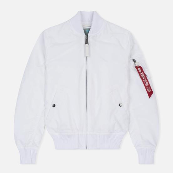 Женская куртка бомбер Alpha Industries MA-1 TT White