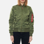 Женская куртка бомбер Alpha Industries MA-1 VF 59 Sage Green фото- 3