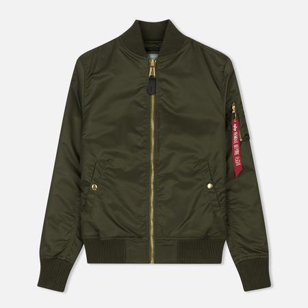 Женская куртка бомбер Alpha Industries MA-1 VF PM Dark Green