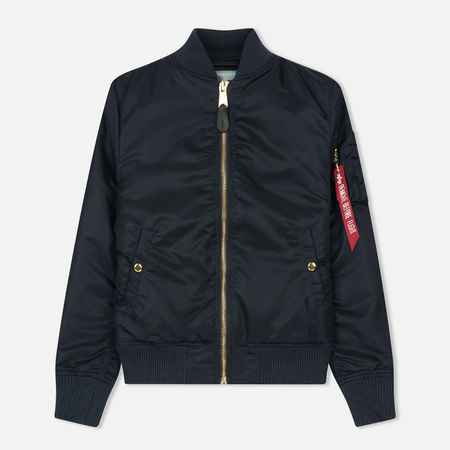 Женская куртка бомбер Alpha Industries MA-1 VF PM Replica Blue
