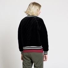 Женская куртка бомбер Champion Reverse Weave Velour Quilted Black фото- 8