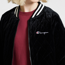 Женская куртка бомбер Champion Reverse Weave Velour Quilted Black фото- 9