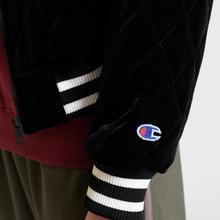 Женская куртка бомбер Champion Reverse Weave Velour Quilted Black фото- 10